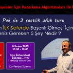 7 ve 8 Kasım Günlerinde Girişimcilik Hakkında 2 Konferans ile İzmir'de Olacağım